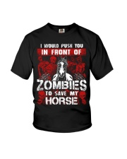 Horse Zombies Tshirts Youth T-Shirt thu