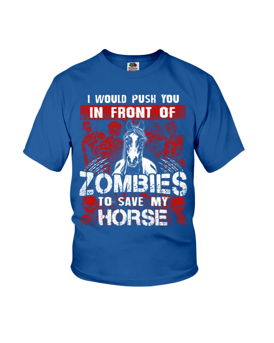 Horse Zombies Tshirts Youth T-Shirt