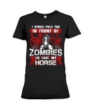 Horse Zombies Tshirts Premium Fit Ladies Tee thumbnail