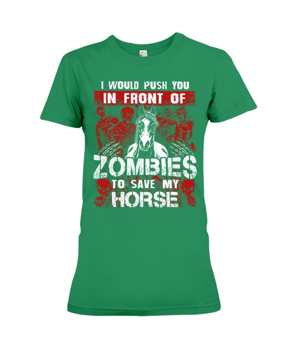 Horse Zombies Tshirts Premium Fit Ladies Tee