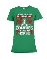 Horse Zombies Tshirts Premium Fit Ladies Tee front