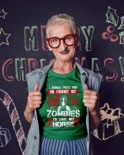 Horse Zombies Tshirts Premium Fit Ladies Tee lifestyle-holiday-crewneck-front-3