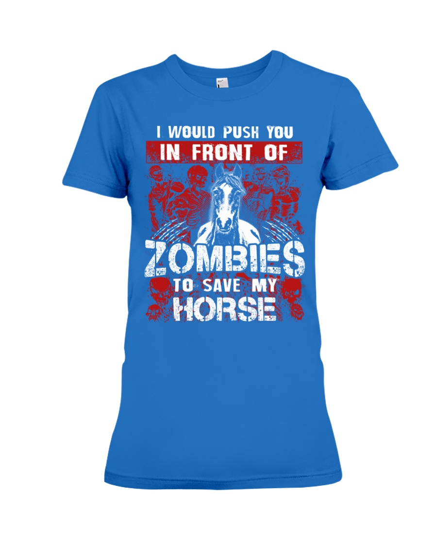Horse Zombies Tshirts Premium Fit Ladies Tee