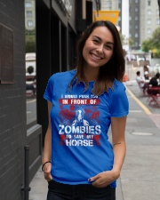 Horse Zombies Tshirts Premium Fit Ladies Tee lifestyle-women-crewneck-front-5