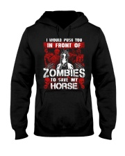 Horse Zombies Tshirts Hooded Sweatshirt thumbnail