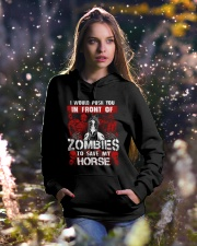 Horse Zombies Tshirts Hooded Sweatshirt lifestyle-holiday-hoodie-front-5