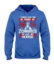 Horse Zombies Tshirts Hooded Sweatshirt front