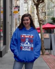 Horse Zombies Tshirts Hooded Sweatshirt lifestyle-unisex-hoodie-front-2