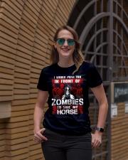 Horse Zombies Tshirts Ladies T-Shirt lifestyle-women-crewneck-front-2