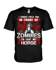 Horse Zombies Tshirts V-Neck T-Shirt thumbnail