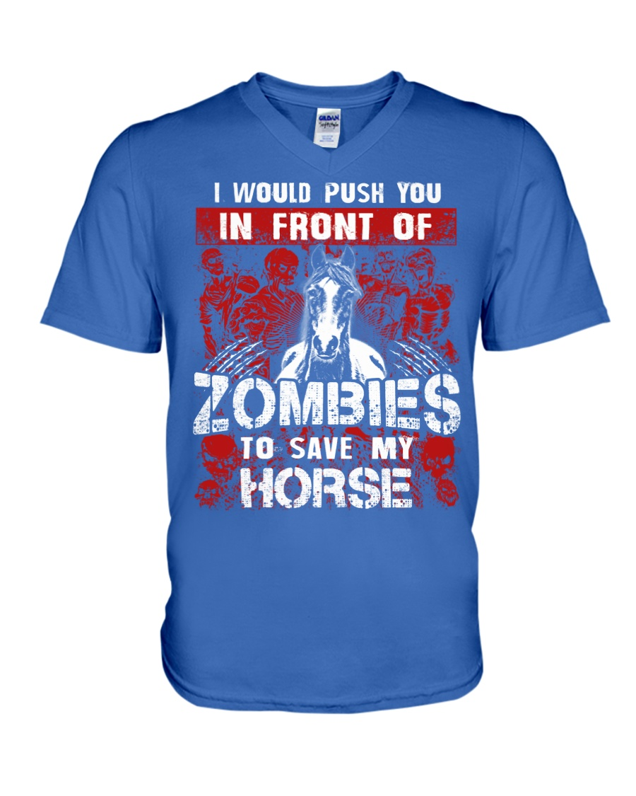 Horse Zombies Tshirts V-Neck T-Shirt