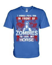 Horse Zombies Tshirts V-Neck T-Shirt front