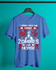 Horse Zombies Tshirts V-Neck T-Shirt lifestyle-mens-vneck-front-3