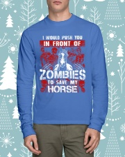 Horse Zombies Tshirts Long Sleeve Tee lifestyle-holiday-longsleeves-front-1