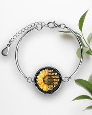 You Will Be Never Gone From My Heart Dad Metallic Circle Bracelet aos-bracelet-metal-front-lifestyle-4