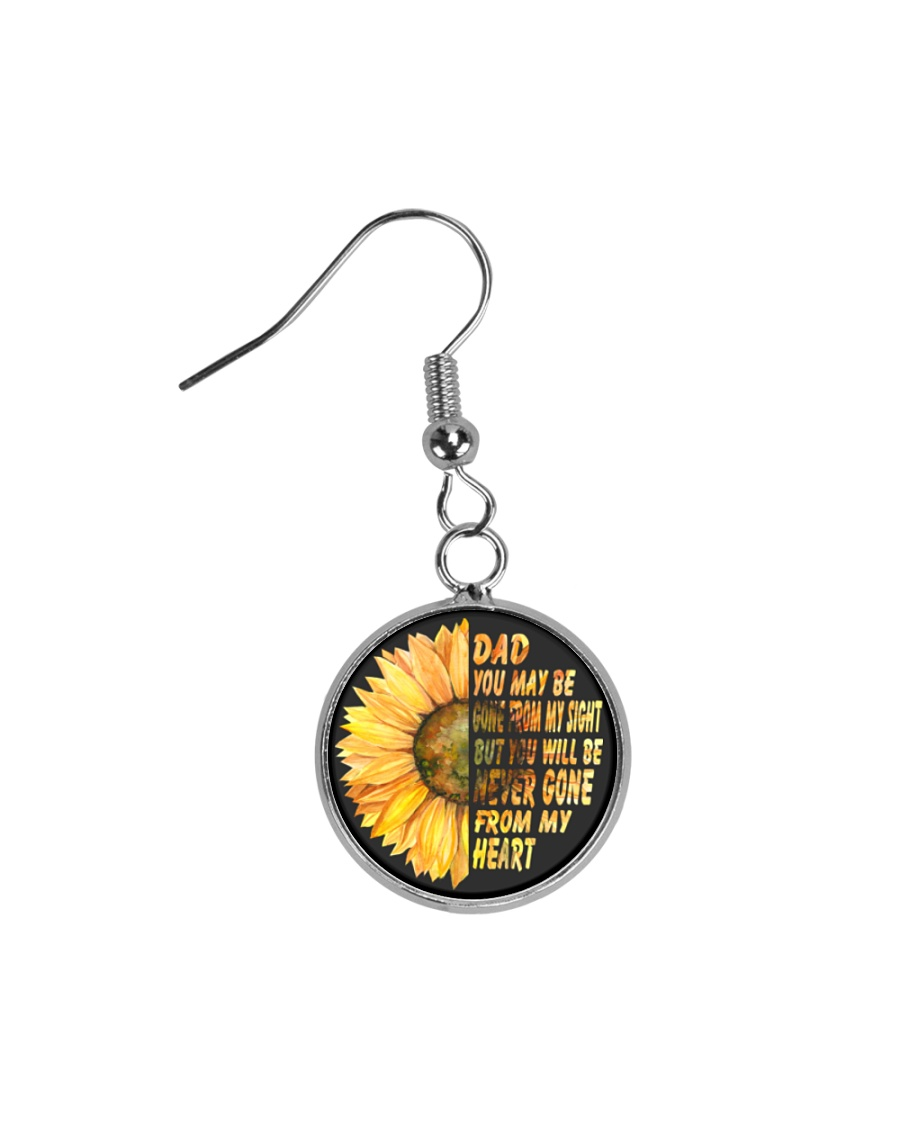 You Will Be Never Gone From My Heart Dad Circle Earrings