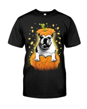 Pulldog Halloween Shirts Classic T-Shirt front