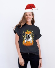 Pulldog Halloween Shirts Classic T-Shirt lifestyle-holiday-crewneck-front-1