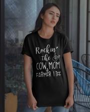 Rockin The Cow Mom and Farmer Life T-shirt Classic T-Shirt apparel-classic-tshirt-lifestyle-08