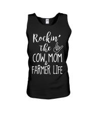Rockin The Cow Mom and Farmer Life T-shirt Unisex Tank thumbnail