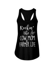 Rockin The Cow Mom and Farmer Life T-shirt Ladies Flowy Tank thumbnail