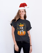 Husky Halloween Shirts Classic T-Shirt lifestyle-holiday-crewneck-front-1