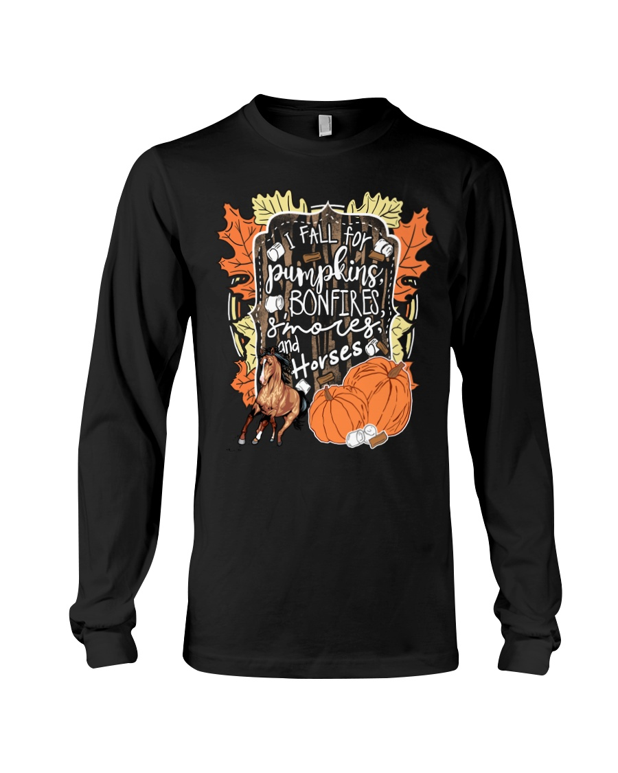 Horse T-Shirt For Halloween Gift Tee Shirt Long Sleeve Tee