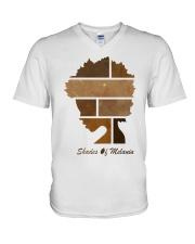 Shades of Melanin V-Neck T-Shirt front