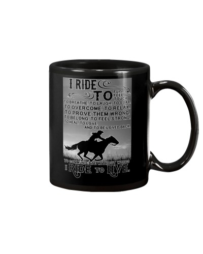 I Ride To Live Shirt Horse Lovers Equestrians Gift