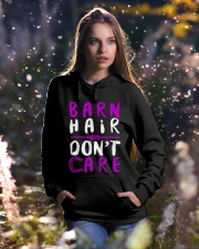 Barn Hair Don't Care Hooded Sweatshirt lifestyle-holiday-hoodie-front-5