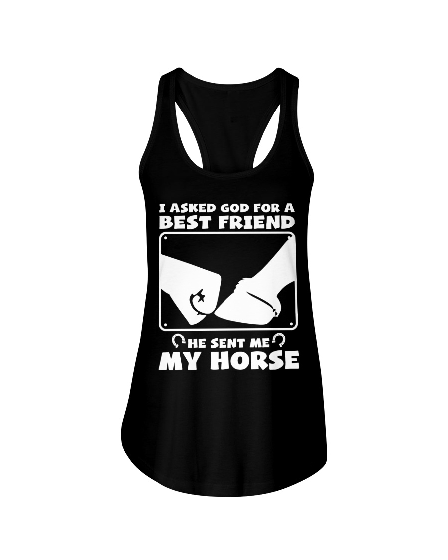 Horse Lovers T-Shirt Ladies Flowy Tank