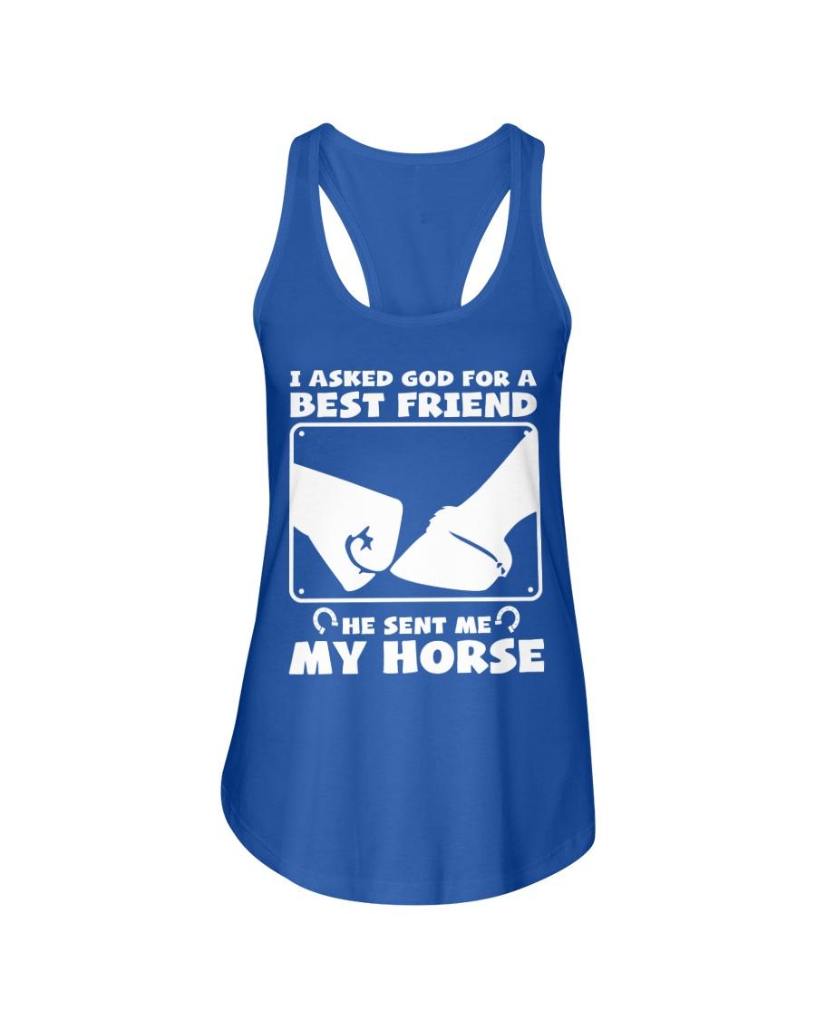 Horse Lovers T-Shirt Ladies Flowy Tank