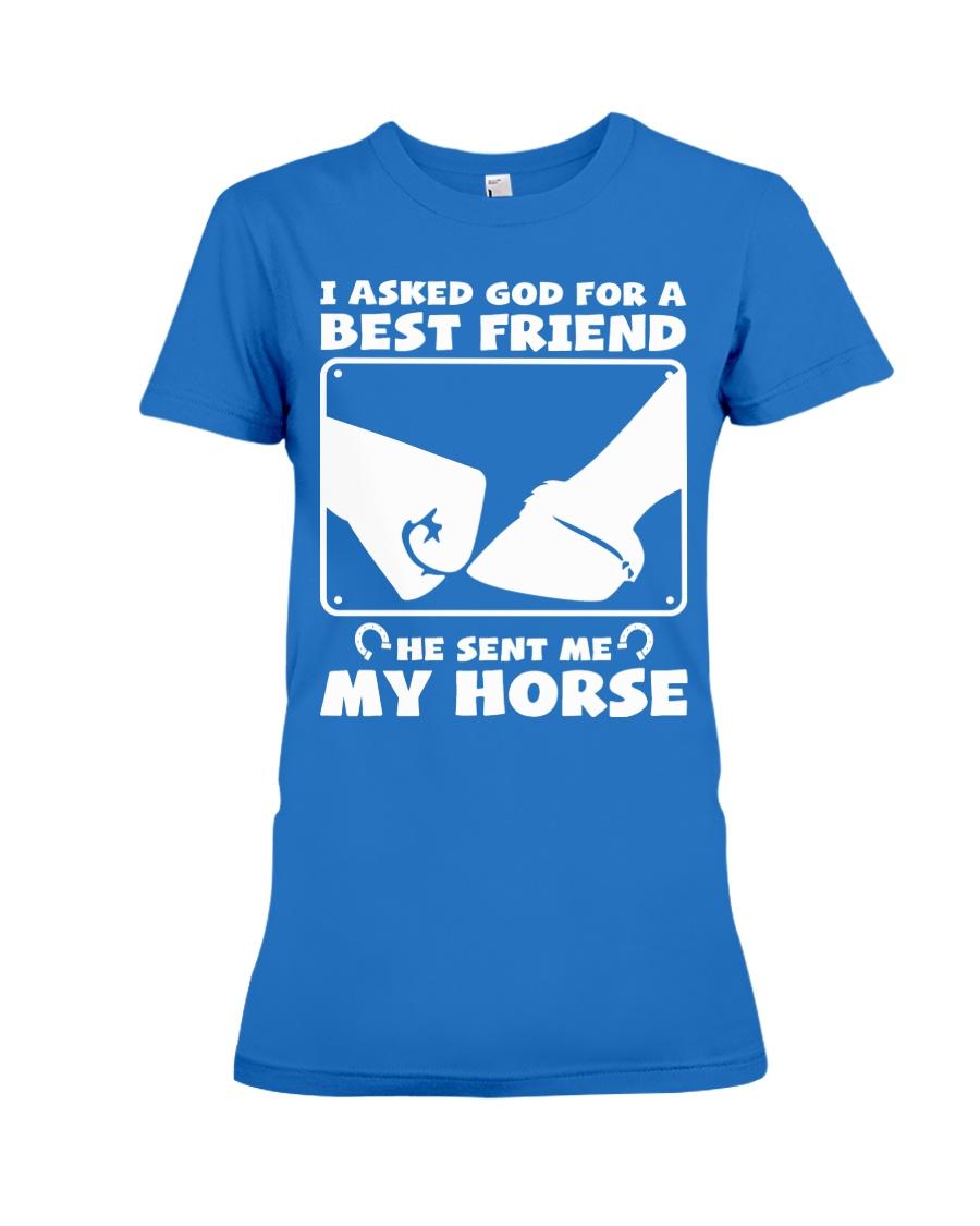Horse Lovers T-Shirt Premium Fit Ladies Tee