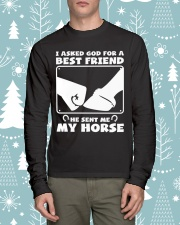 Horse Lovers T-Shirt Long Sleeve Tee lifestyle-holiday-longsleeves-front-1