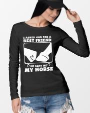 Horse Lovers T-Shirt Long Sleeve Tee lifestyle-unisex-longsleeve-front-4