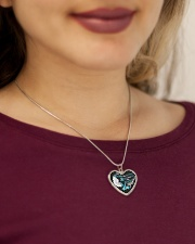 My Daddy Was so Amazing My Guardian Angel Necklace Metallic Heart Necklace aos-necklace-heart-metallic-lifestyle-1