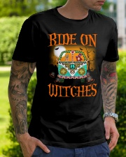 Ride on witches peacefull car Classic T-Shirt lifestyle-mens-crewneck-front-7