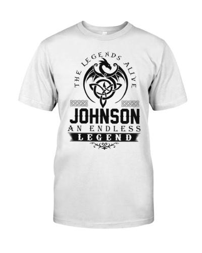 Johnson An Endless Legend Alive T-Shirts