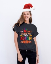 Halloween Autism Mom Shirts Classic T-Shirt lifestyle-holiday-crewneck-front-1