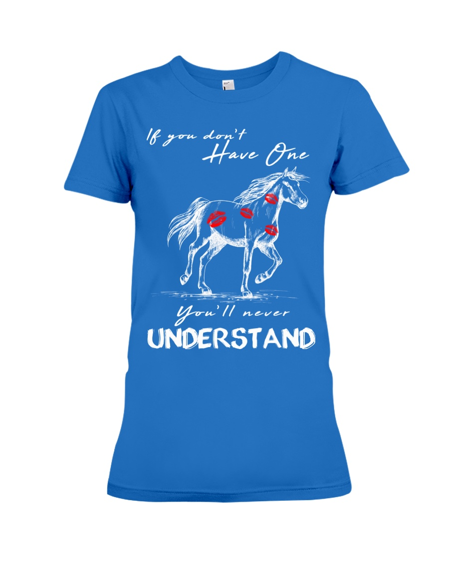 Horse T-Shirt Gift Tee Shirt  Premium Fit Ladies Tee