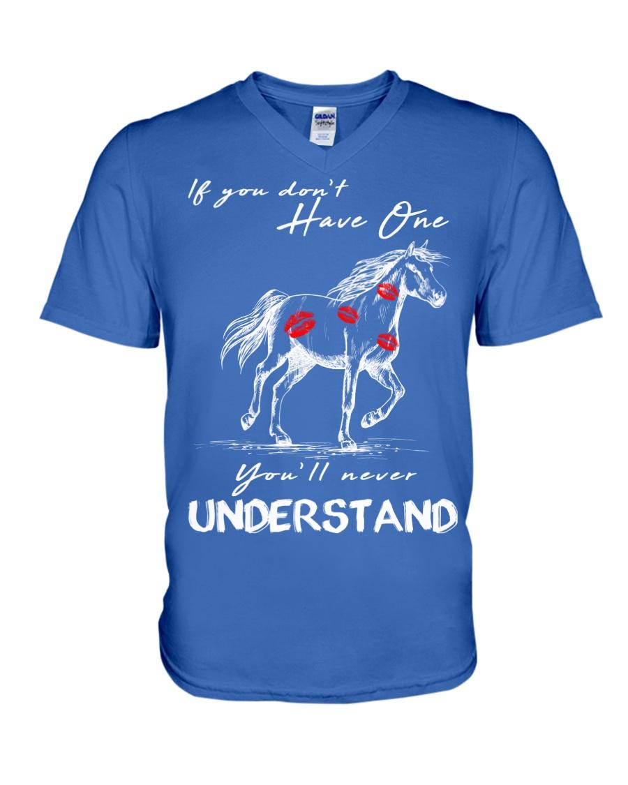 Horse T-Shirt Gift Tee Shirt  V-Neck T-Shirt