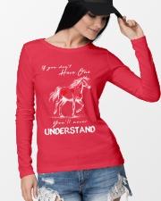Horse T-Shirt Gift Tee Shirt  Long Sleeve Tee lifestyle-unisex-longsleeve-front-4