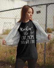 Rockin The Cat Mom and Teacher Life T-shirt Classic T-Shirt apparel-classic-tshirt-lifestyle-07