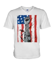 Empower African American Roots T-shirt V-Neck T-Shirt thumbnail