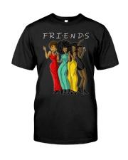 Melanin Friends T-shirt Black Women Gift Idea Classic T-Shirt front
