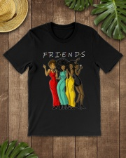 Melanin Friends T-shirt Black Women Gift Idea Classic T-Shirt lifestyle-mens-crewneck-front-18