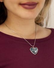 My Dad My Guardian Angel Necklace Metallic Heart Necklace aos-necklace-heart-metallic-lifestyle-1