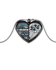 My Dad My Guardian Angel Necklace Metallic Heart Necklace front