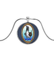 Blue Footed Booby Jewelry Metallic Circle Necklace thumbnail