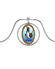 Blue Footed Booby Jewelry Metallic Circle Necklace tile
